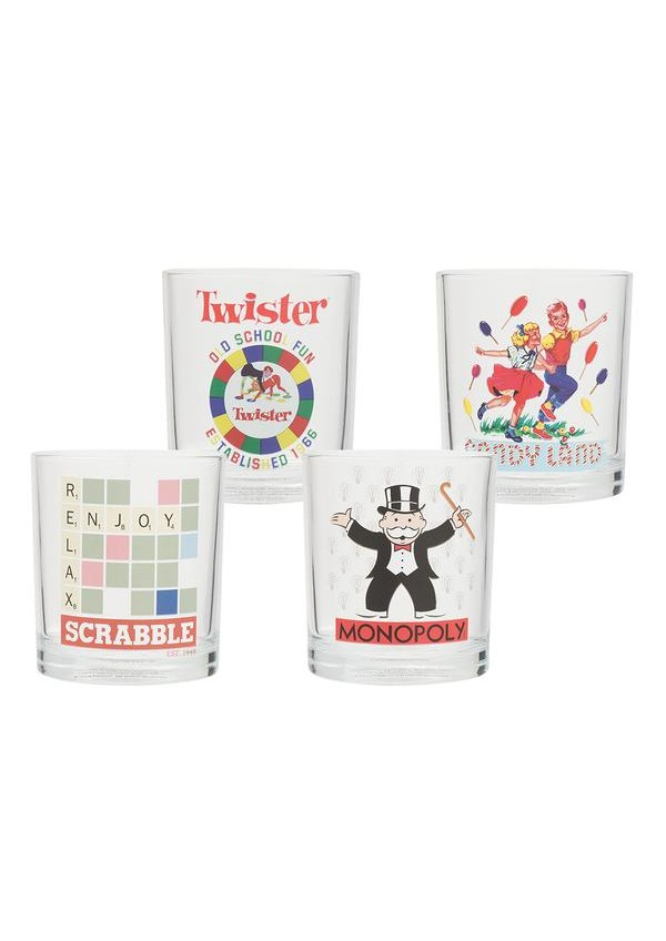 Ensemble de 4 Verres (10 oz) - Collection Hasbro Gaming