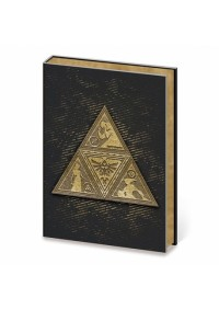 Carnet de Notes Legend of Zelda - Emblème Triforce Métallique