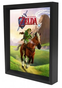 Cadre Holographique Legend of Zelda - Ocarina of Time Link & Epona