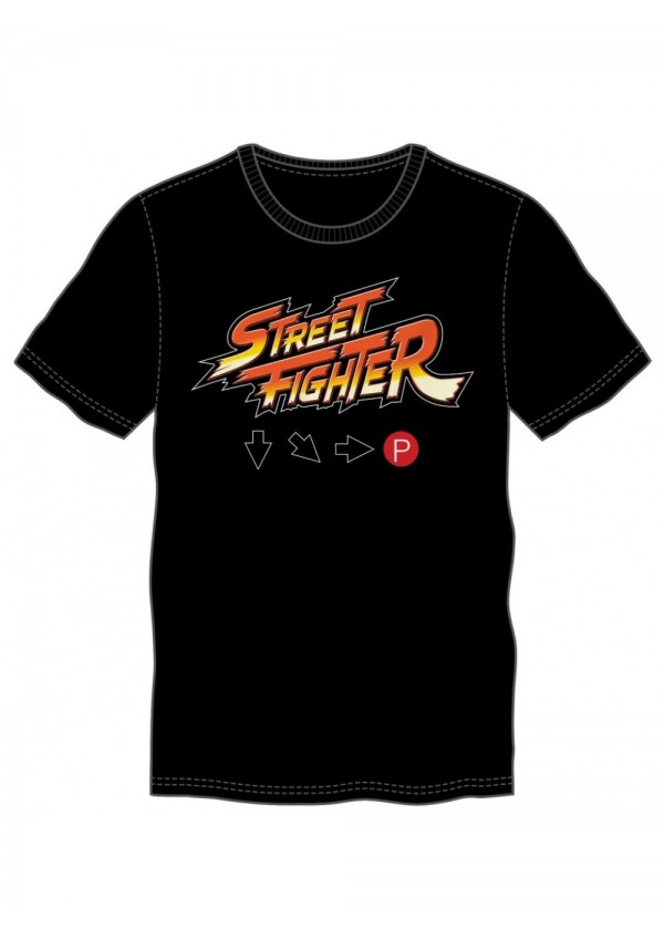 T-Shirt Street Fighter - Hadouken Button Combo