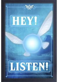Affiche Encadrée The Legend Of Zelda - Navi HEY LISTEN