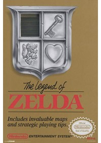 Affiche Encadrée The Legend Of Zelda - Couverture NES