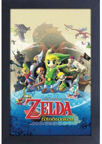 Affiche Encadrée The Legend Of Zelda - Couverture Wind Waker