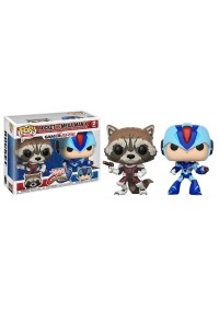 Figurines Funko Pop Games Marvel vs Capcom 2 Pack - Rocket vs Mega Man X