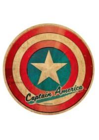 Autocollant Style Travel Sticker - Marvel Captain America Shield