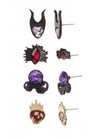 Ensemble de Boucles d'Oreille Disney Villains - 4 Paires
