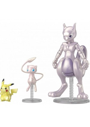 Model Kit Pokemon Plamo - Mewtwo, Mew et Pikachu
