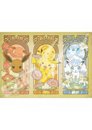 Casse-Tête Pokemon Eevee, Pikachu et Vulpix Art Nouveau 300 mcx