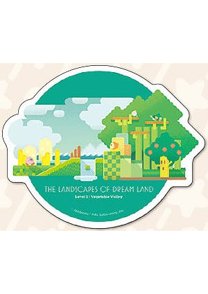 Autocollant Kirby - The Landscapes of Dream Land - Level 1  Vegetable Valley
