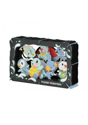 Kit Bricolage Paper Theater Pokemon - Starters Eau
