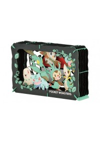 Kit Bricolage Paper Theater Pokemon - Starters Herbe