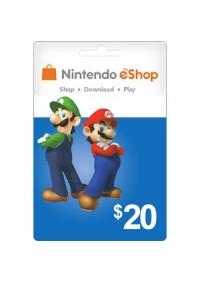Carte Cadeau eSHOP 20$ (Nintendo)