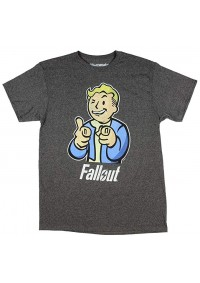 T-Shirt Fallout Mens Tee Charcoal