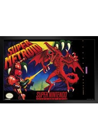 Affiche Encadrée Metroid - Couverture Super Metroid SNES