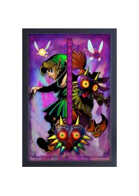 Affiche Encadrée The Legend of Zelda Majora's Mask - Split Personality
