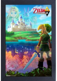 Affiche Encadrée The Legend Of Zelda - A Link Between Worlds