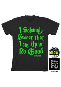 T-Shirt Harry Potter Glow in the Dark - I Solemnly Swear Than I Am Up to no Good