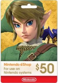 Carte Cadeau eSHOP 50$ (Nintendo)
