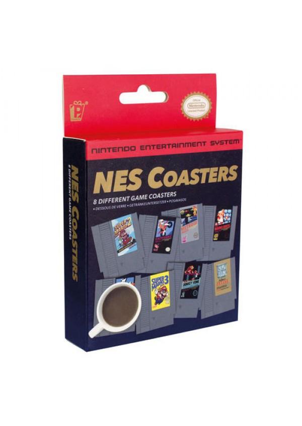 Ensemble de 8 Sous-Verre Nintendo Effigie Jeux NES