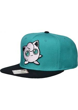 Casquette Snapback Pokémon - Jigglypuff Brodé Turquoise