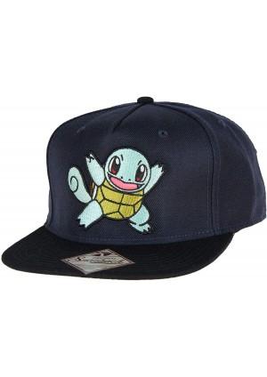 Casquette Snapback Pokémon - Squirtle Brodé Marine
