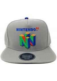Casquette Ajustable Nintendo - Logo N64 Gris