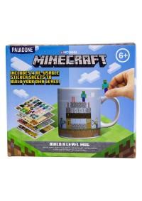 Tasse Minecraft En Céramique Avec Autocollants - Construit Un Niveau! 325 mL