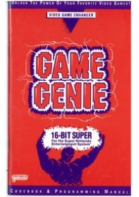 Guide / Livre Game Genie Codebook Programming Manual Pour Super Nintendo