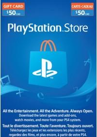 Carte Cadeau PSN 50$ (Playstation Network)