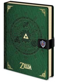Carnet de Notes Imitation Cuir Vert - Legend Of Zelda