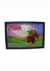 Affiche Encadrée Plexiglass Legend of Zelda Ocarina of Time - Link et Epona