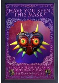 Affiche Encadrée Legend of Zelda Majora's Mask - Have you Seen this Mask?