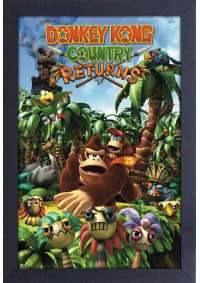 Affiche Encadrée Donkey Kong Country Returns