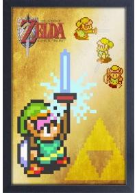 Affiche Encadrée Legend of Zelda A Link to the Past and Master Sword