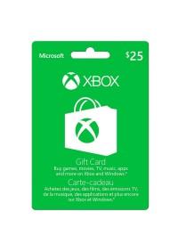 Carte Cadeau Xbox Live 25$ (Microsoft Store)