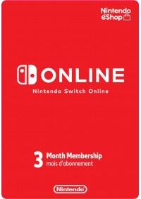 Carte Abonnement En Ligne Nintendo Switch Online de 3 Mois