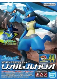 Model Kit Pokemon No 44 Select Series Riolu et Lucario