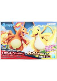 Model Kit Pokemon No 43 Charizard Battle et Dragonite