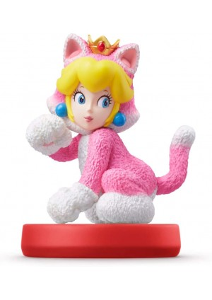 Figurine Amiibo Super Mario Series - Peach Chat (Cat)