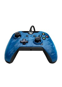 Manette Avec Fil USB (2.4 M) Pour Xbox One / PC Windows 10 Par PDP - Bleue Camo