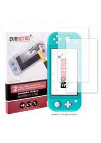 Protections En Verre Trempé Pour Écran Nintendo Switch Lite Par EvoRetro - Ensemble De 2