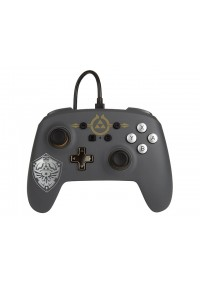 Manette Enhanced Controller Avec Fil Pour Nintendo Switch Par PowerA - Zelda Hylian Shield