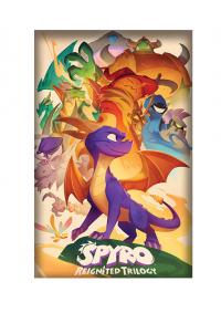 Affiche Encadrée Spyro The Dragon - Aquarelle Reignited Trilogy