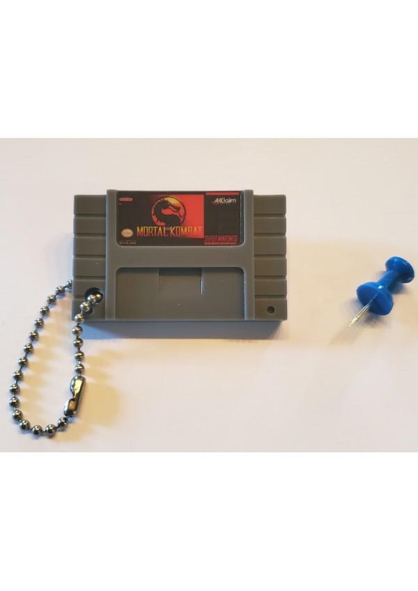 Porte-Clé Mini-Cartouche de SNES - Mortal Kombat