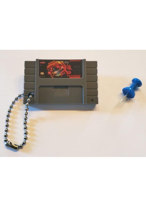 Porte-Clé Mini-Cartouche de SNES - Super Metroid