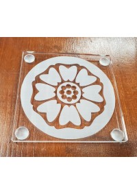 Sous-Verre en Acrylique Avatar The Last Airbender - Symbole du Lotus Blanc par Créations STG