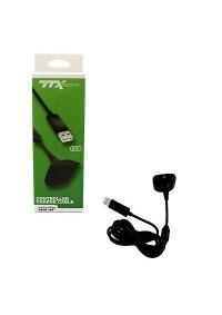 Cable De Recharge Pour Manette Xbox 360 Par TTX TECH - Noir